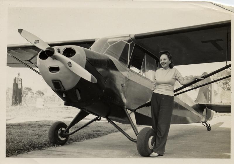 Meta Watts Pierce  (pilot)  about 1955