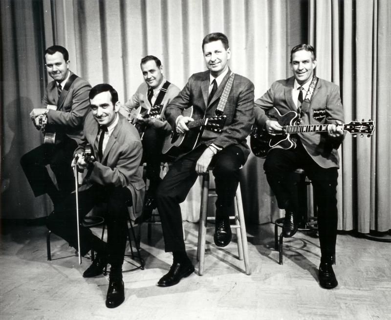 """Virginia Country Style"" featuring left to right:  Ron, Cal Newman, Fred Sherwood, Tom Anderson, and Lennie Jones."