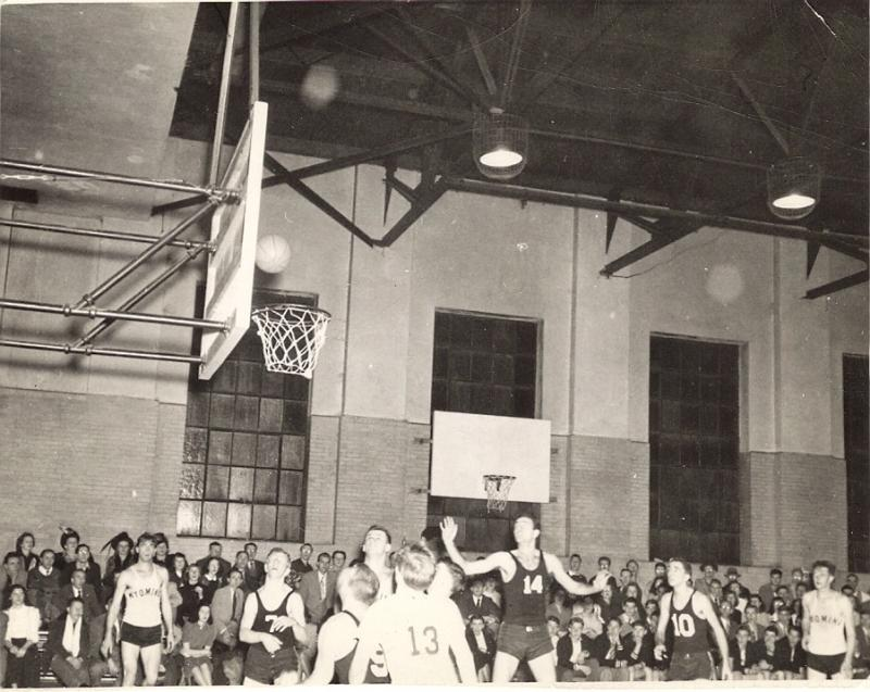 """Mac making a shot, Lycoming College, Wmspt PA, 47'-48', 49'."""