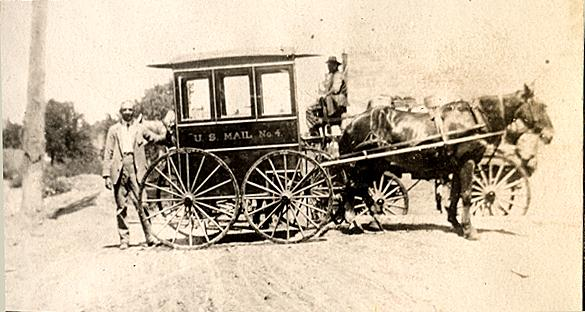 Horse Drawn US Mail wagon Alfred Harmon