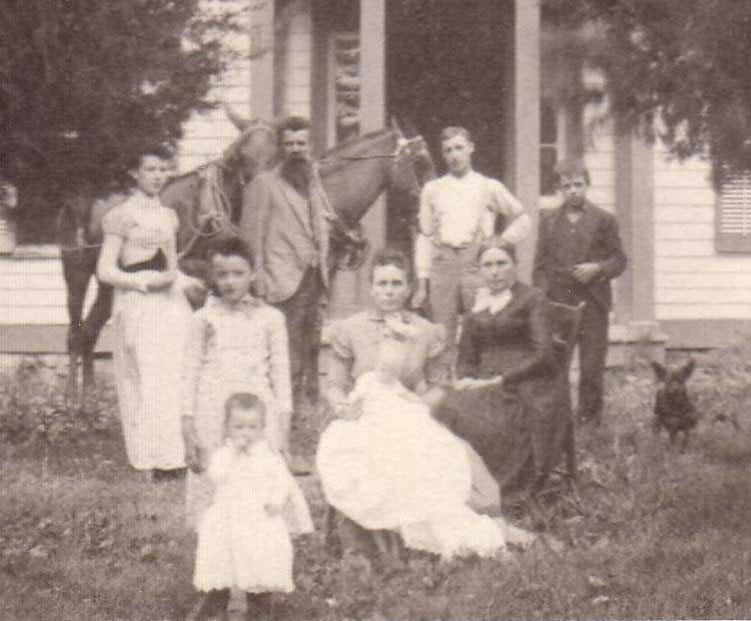 Gilbert Franklin Jones - Nancy Melcina Apperson and family