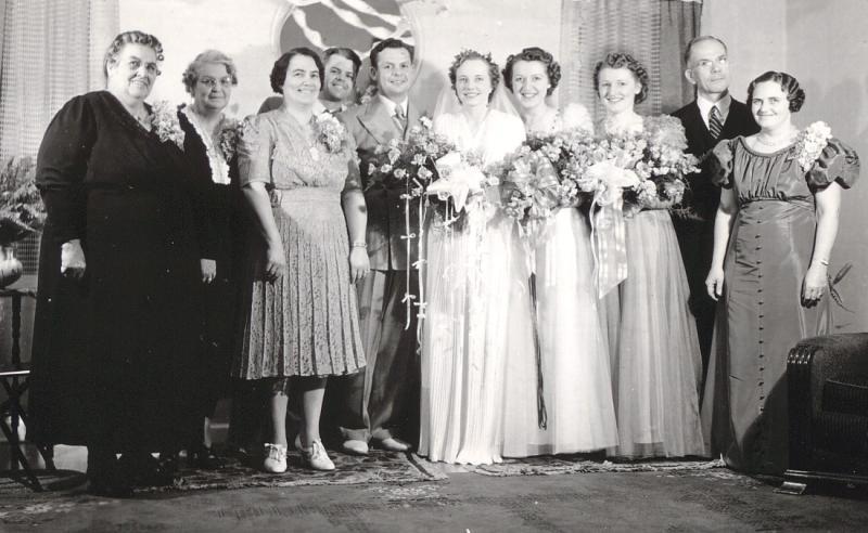 Wedding Reception for Mervin Stephen and Virginia Lillian Baldwin Emery