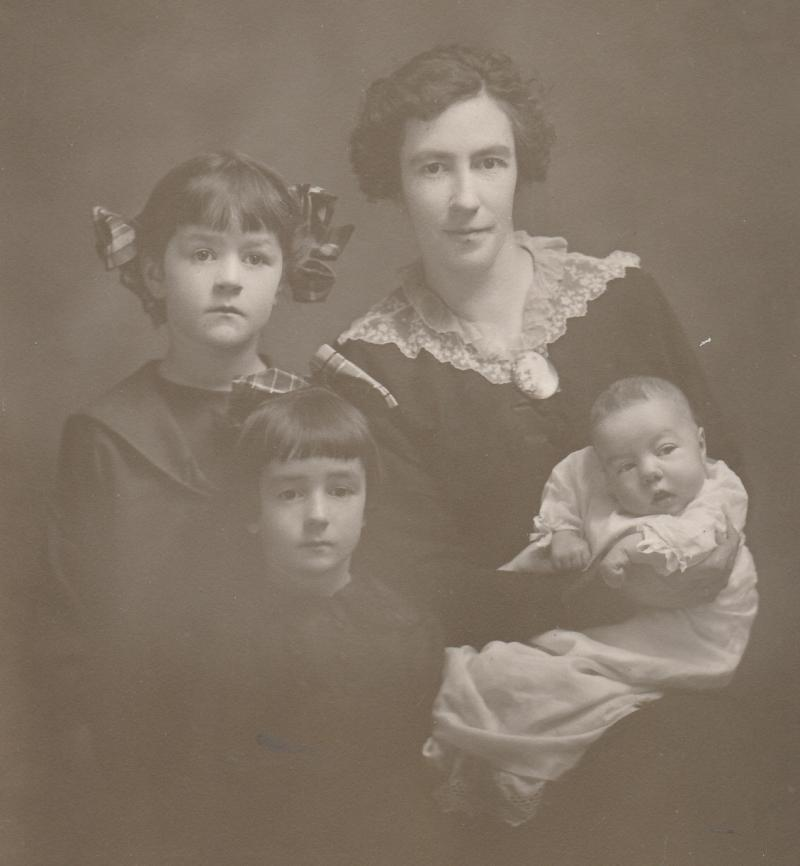 Winifred Ensign with her girls