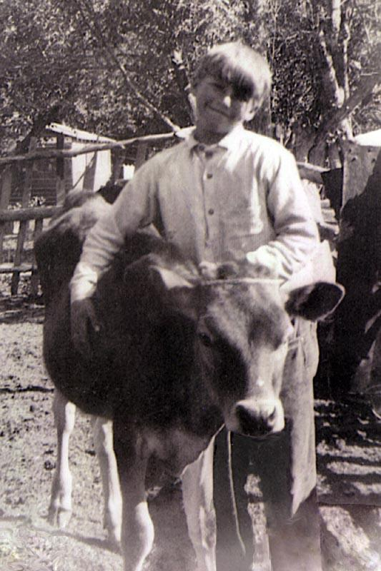 Alvin George Bowden with Calf