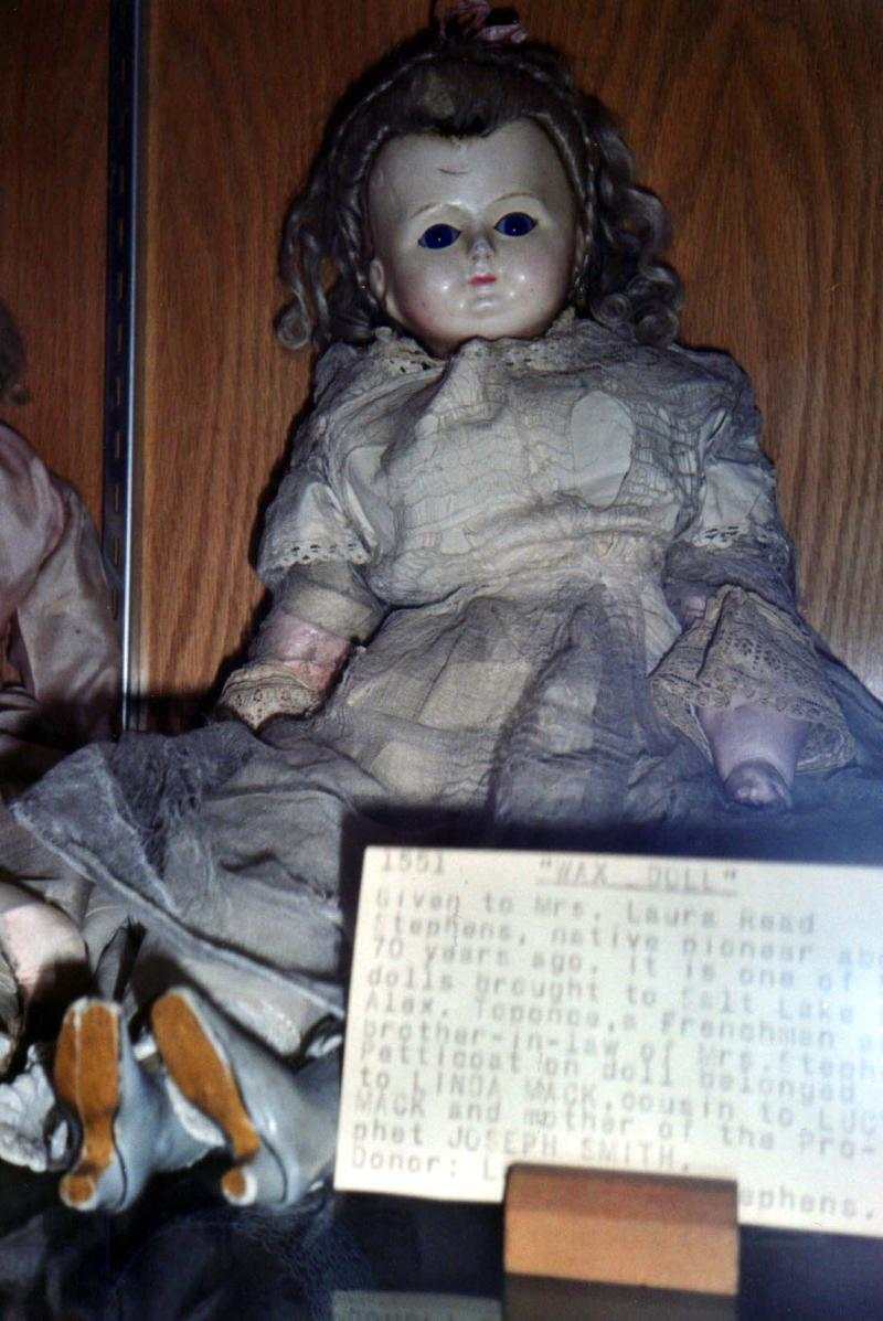 Wax Doll given to Laura Mariah Read, Daughters of the Utah Pioneer Museum