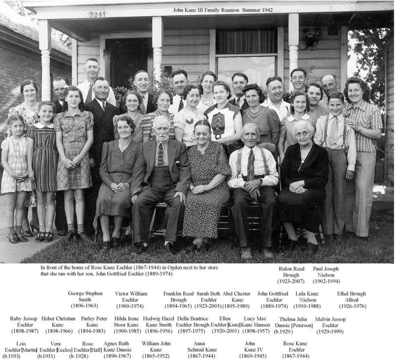 1942 John Kunz III Reunion, Ogden