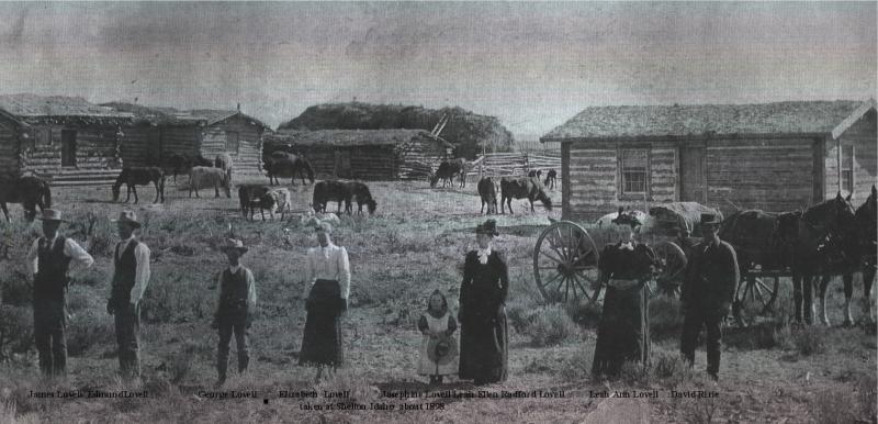 The Joseph Hyrum Lovell Family taken at Shelton Idaho about 1898