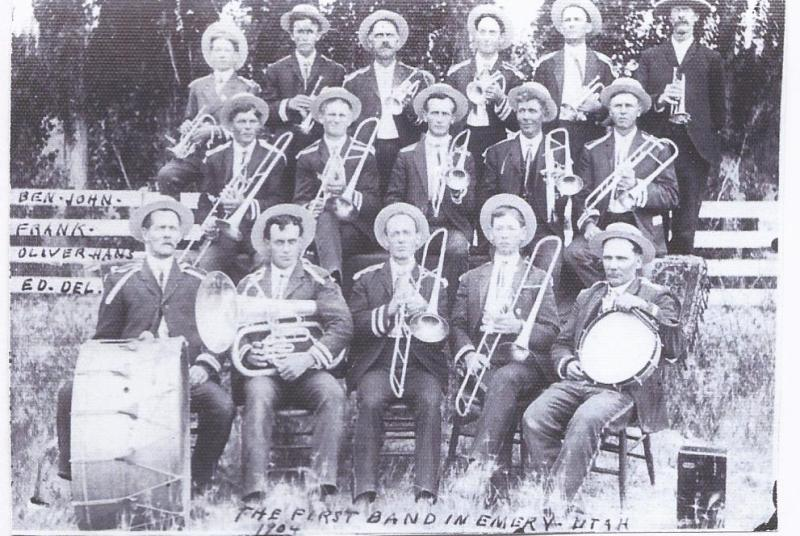 Ted with his Band - top left first person -1904