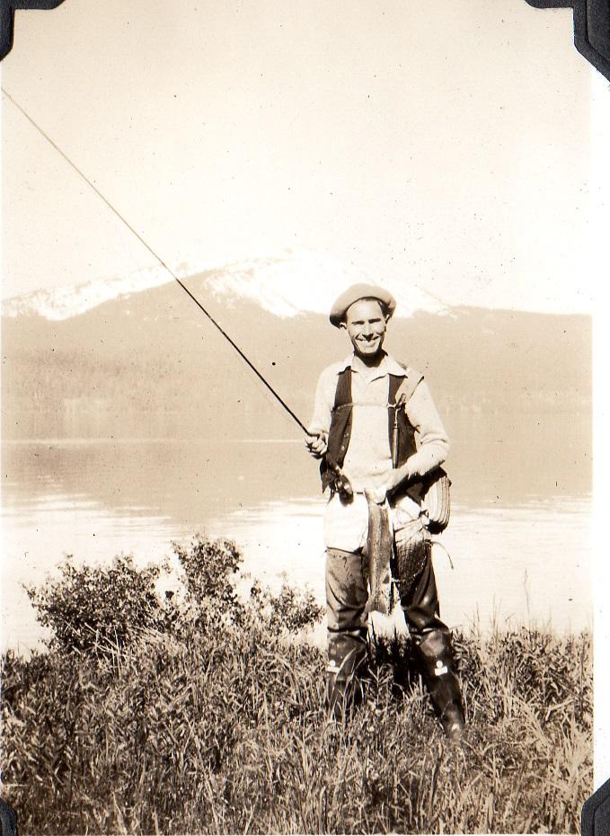 E.G. England fishing - what he loved best.
