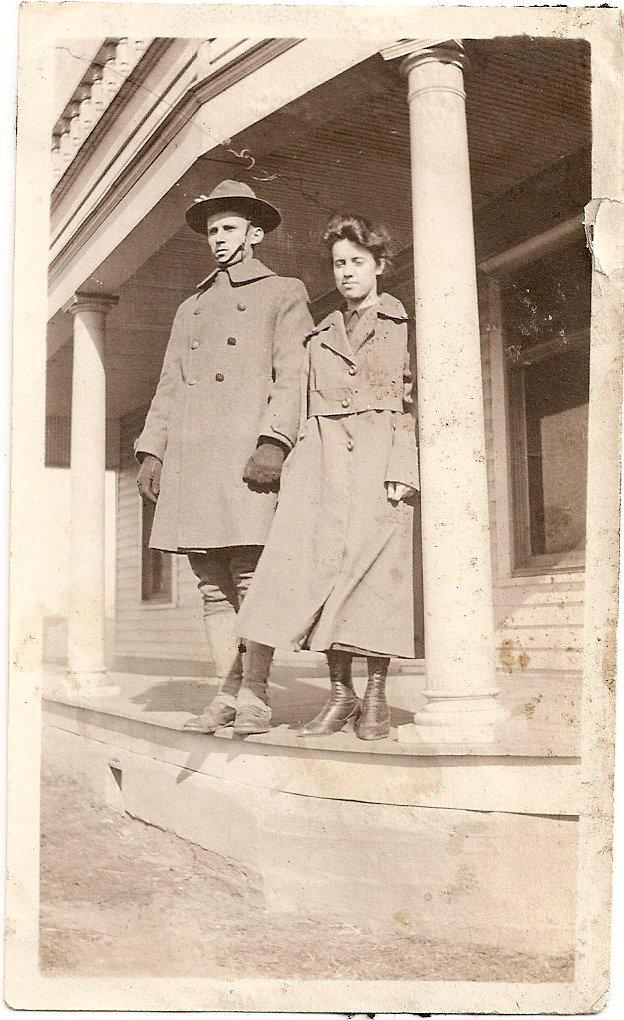 Levy home from WW2 with sister Lera Robinson