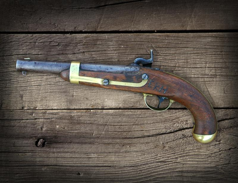 Ephraim Hanks' Mormon Battalion Issued Pistol. Photo taken in 1996.