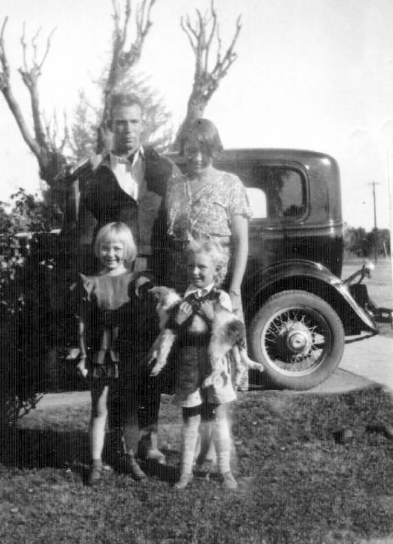 Alfred, Orva, Orva Jeanne, Clarence Freestone