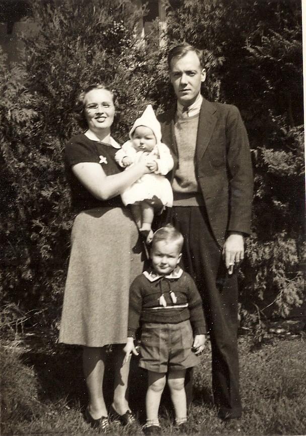 Cheston & Margaret with children: Kenneth and Ann Elizabeth