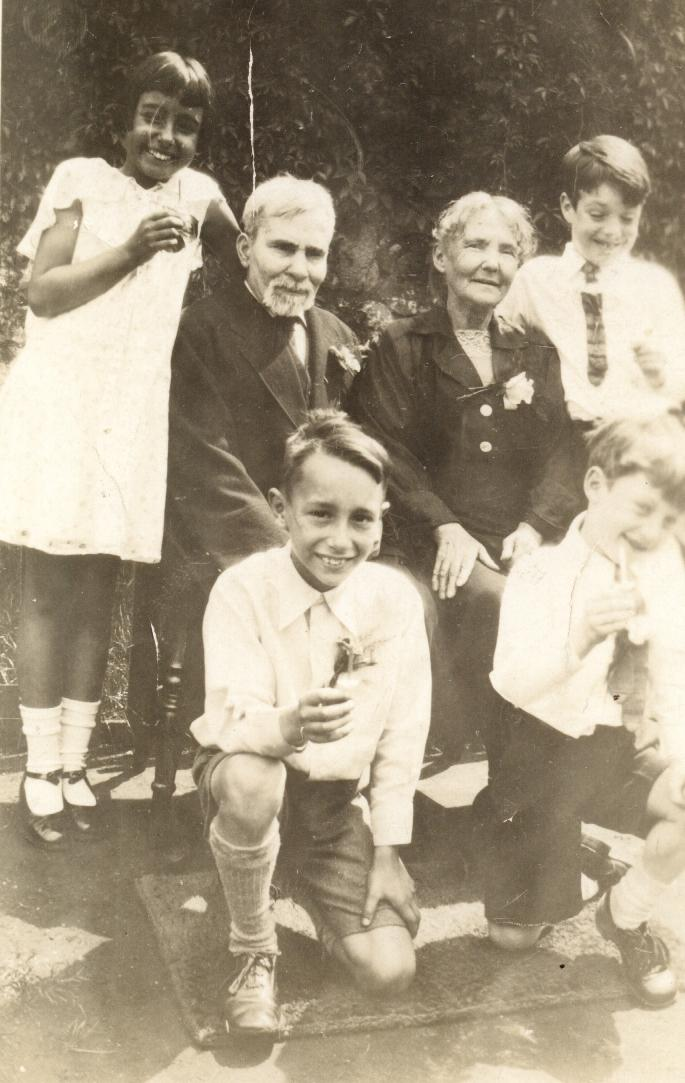 Richard & Mary Marsh with Great grand children, Betty & Denis Wiltshire, Ken & Ron Aston