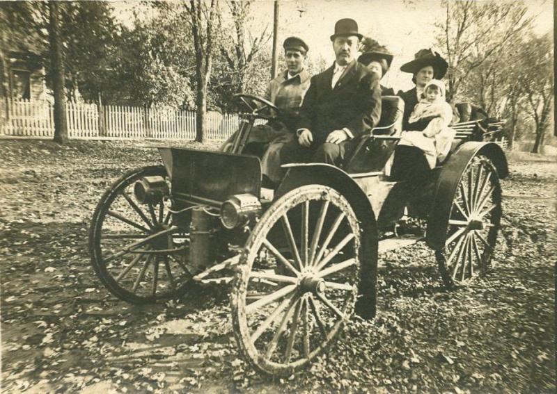 Hartman family, Samuel, Lola, Goldia and Little Joe Miller