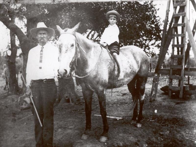 Benjamin Thomas Hallmark & grandson, Lloyd Hollman
