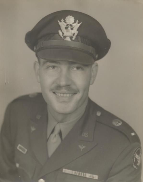 Robert Sidney White Jr abt 1942 w hat US Air Corps