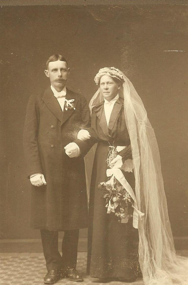 Marriage of Sigfrid anton Olofsson and Annie Altina Persson