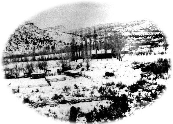 Floral Ranch, Pleasant Creek, Wayne County, Utah. Photo from Teton Hanks Jackman collection.