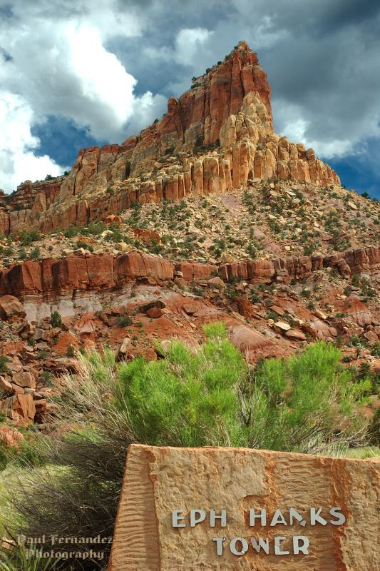 Eph Hanks Tower located in the Capital Reef National Monument.