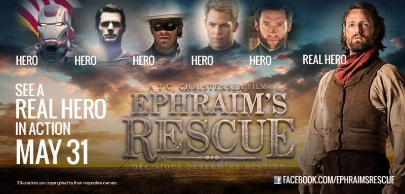 "Movie Poster for the 2012 film, ""Ephraim's Rescue."""