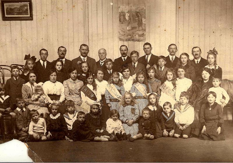 Dublin Branch, Church of Jesus Christ of Latter-Day Saints, Sunday School.  1917.