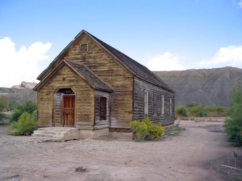 Caineville Church in Wayne County, Utah. This is where the funeral of Ephraim Hanks was held.