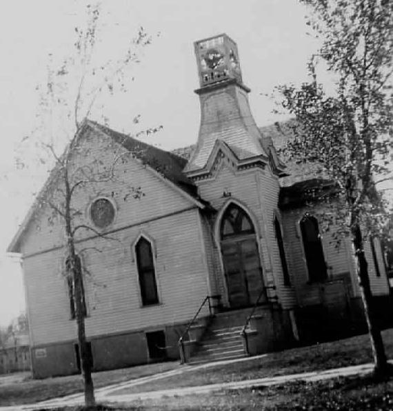 The Highmore South Dakota Methodist Church that Lorilla and her family attended.