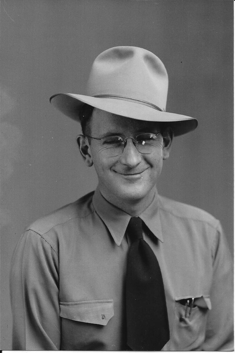 DeVerl (Dee) Linford, pulp western author (Undated photo courtesy FamilySearch,org)