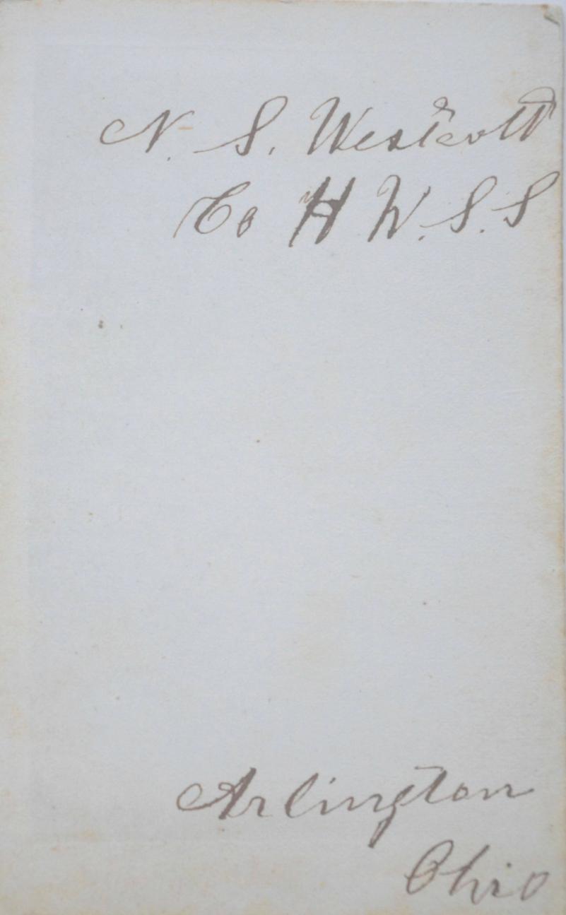 Civil War Portrait for Nelson Spicer Westcott - Company H circa 1863 (back)