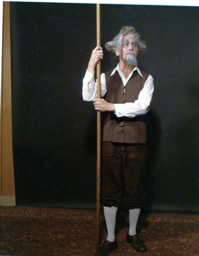 Uncle Jack, ever the actor, here as Don Quixote