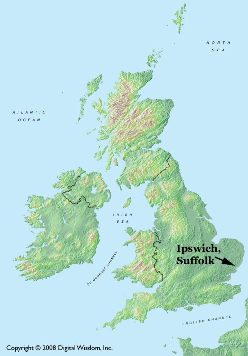 Image result for ipswich map